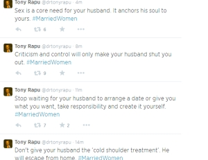 Dear married women, powerful messages from Pastor Tony Rapu to you